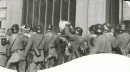 Winnipeg Free Press Archives If Day - World War II - (15) Feb. 19, 1942 Nazi Storm Troopers Demonstrate Invasion Tactics Surrounding him, they tear up his papers and scatter them on the street.  fparchive