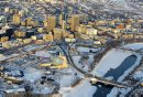 Aerial photos over Winnipeg. Skyline photo. Downtown Winnipeg. November 28, 2012  BORIS MINKEVICH / WINNIPEG FREE PRESS