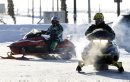 Snowmobilers pull in to the 59er on Highway 59, Saturday, December 29, 2012. (TREVOR HAGAN/WINNIPEG FREE PRESS)