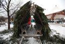 Warming huts ...