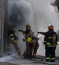 Fire fighters ...