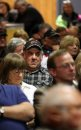 An angry crowd ...