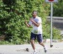 A relay runner ...