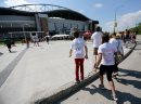 Taylor Swift fans walking towards Investors Group Field, Saturday, June 22, 2013. (TREVOR HAGAN/WINNIPEG FREE PRESS)
