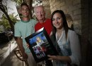 June 25, 2013 - 130625  -  Ray Bernier (M) is photographed with Roxanne Lacroix (R) and Quentin Raval (L) in downtown Winnipeg Tuesday, June 25, 2013. Bernier gave the couple tickets to the Taylor Swift concert. John Woods / Winnipeg Free Press