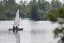 A sailboat ...