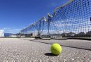 Tennis courts are in need of repair at Linden Woods Community Centre. BORIS MINKEVICH / WINNIPEG FREE PRESS. August 6, 2013