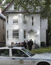 Winnipeg Police at a crime scene at 210 Chestnut St. near Preston Ave. Wednesday morning. .Kevin Rollason  story Wayne Glowacki / Winnipeg Free Press Sept. 4 2013