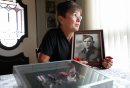Mae Gulewich, whose father was one of the 29 men on   block on Dufferin Avenue in Selkirk who had enlisted at one time in the Second World War, thought to be a record.  Mae Gulewich, with a picture of her father and his medals in her home in Selkirk.  See Bill Redekop's story.  November 06,,  2013 Ruth Bonneville / Winnipeg Free Press