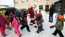 Santa arrives ...