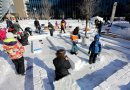 A snow maze ...