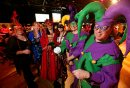 Margaret Kampff, Sandi Denman, Helena K., Marnie Anthony, Leta J., and Jeff P. at Mardi Gras at the Winnipeg Convention Centre, Saturday, February 15, 2014. (TREVOR HAGAN/WINNIPEG FREE PRESS)