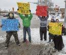 Demonstrators ...