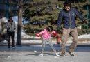 The skating ...