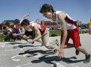 Athletes line ...
