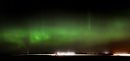 Aurora Borealis flow in the night sky over a harvest in full swing near Sanford Tuesday evening. STAND UP - September 23, 2014 - (Phil Hossack / Winnipeg Free Press)