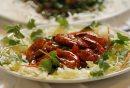 REST REVIEW - SAM PO for Review . SAM PO RESTAURANT 277 Rupert Ave.. Brazed prawns in Tomato Sauce . SEPT  29 2014 / KEN GIGLIOTTI / WINNIPEG FREE PRESS