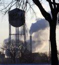Smoke rises in ...