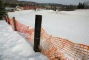 The snow fence ...