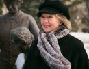 Janice Filmon, who was appointed lieutenant-governor of Manitoba, photographed at the Famous Five and Nellie McClung statue that she helped to bring to the grounds of the Manitoba Legislative Building. 150325 - Wednesday, March 25, 2015 - (Melissa Tait / Winnipeg Free Press)
