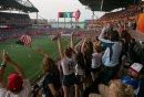 USA fans cheer ...