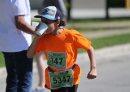 A runner ...