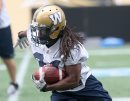 Winnipeg Blue Bombers RB Paris Cotton at practice Wednesday at Investors Group Field- The Team is preparing for a home tilt against the Montreal Alouettes Friday -See Paul Wiecek Story - July 08, 2015   (JOE BRYKSA / WINNIPEG FREE PRESS)
