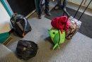 Backpacks sit ...