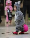 Kids dressed up in costumes make their way around Kildonan Place mall with friends and family as they trick or treat for goodies during their annual Halloween event Friday.   Standup photo Oct 29, 2015 Ruth Bonneville / Winnipeg Free Press