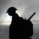 A silhouette ...