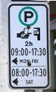 Parking sign ...
