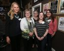 JASON HALSTEAD / WINNIPEG FREE PRESS  L-R: Fort Garry Women's Resource Centre board members Zoe Richardson, Joan Jarvis, Marie Gegorashuk, Tovah Zabenskie and Jen Goldenberg at the FGWRC's seventh annual fundraiser at the Park Theatre April 14, 2016.  (See Social Page)