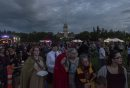 """ZACHARY PRONG / WINNIPEG FREE PRESS  Thousands of eager fans gathered at Assiniboine Park for the release of the new Harry Potter book, """"Harry Potter and he Cursed Child"""". JK Rowling, the author of the wildly popular series, says it will be the last book in the series. July 30, 2016."""