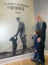 JOE BRYKSA / WINNIPEG FREE PRESS Laureen Mattick (grandaughter of Harry Colebourn) with Cole Davidson, 4 yrs ( Great great grandson of Harry Coluburn) at the  opening of Remembering the Real Winnie, in the Pavilion galleries in Assiniboine Park..   -Nov 07, 2016 -( See Bill's story)