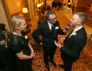 JASON HALSTEAD / WINNIPEG FREE PRESS  Finalists Jordan Meagher (Forks Renewal Corporation), left, and Mike Deluca (Proximity Mobile) are interviewed by Richard Cloutier of CJOB at the ninth annual Future Leaders of Manitoba Awards on Jan. 26, 2017, at the Fort Garry Hotel. (See Social Page)