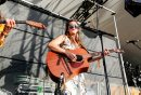 JUSTIN SAMANSKI-LANGILLE / WINNIPEG FREE PRESS Local artist Carly Dow performs on the Main Stage at Folk Fest Thursday. 170706 - Thursday, July 06, 2017.