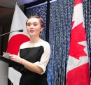 SUBMITTED PHOTO  Event emcee Chase Kavanagh speaks at the Japanese Cultural Association of Manitoba's gala dinner fundraiser on Oct. 28, 2017, at Canad Inns Polo Park Destination Centre. (See Social Page)