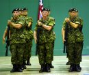 Marc Gallant/Winnipeg Free Press. Local- SOLDIERS HONOURED.  Second Battalion Princess Patricia's Canadian Light Infantry who have returned home from Operation Apollo in Afghanistan. Formal parade at Convention Centre. August 7, 2002.