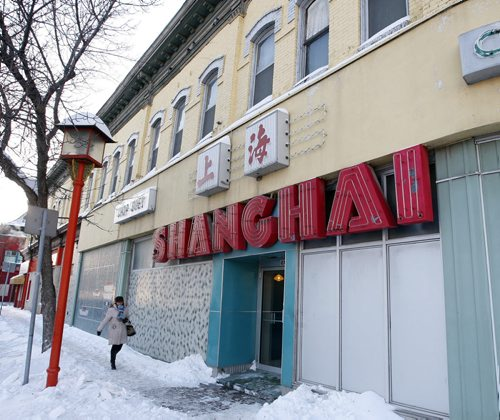 KEN GIGLIOTTI / WINNIPEG FREE PRESS / Dec 2 2010 – Shanghai Restaurant at King St and Alexander Ave , the city has blocked the sale of the restaurant to a developer who wants to tear it down and turn it into a parking lot