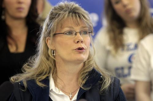 MIKE.DEAL@FREEPRESS.MB.CA 110408 - Friday, April 08, 2011 - St. Boniface Conservative candidate Shelly Glover today condemned comments by an Alberta Liberal candidate who said some sexual assault offenders shouldn't to jail. Glover, a city police officer on leave, said Liberal Leader Michael Ignatieff should remove John Reilly, a retired provincial court judge, as the Liberal candidate in the Wild Rose riding in south-west Alberta. MIKE DEAL / WINNIPEG FREE PRESS