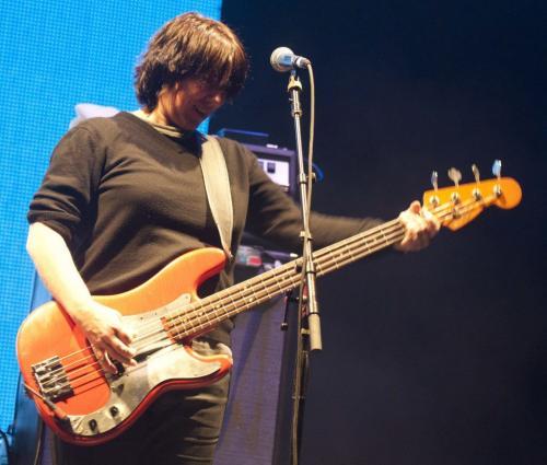 DAVID LIPNOWSKI / WINNIPEG FREE PRESS (April 26, 2011) Pixies bassist Kim Deal perform at The Centennial Concert Hall Tuesday night in the first of two shows in Winnipeg.