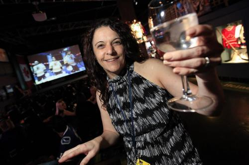 Winnipeg, Manitoba - June 4, 2011 - Oreanna Cheater, CEO of 4 Play Sports Bar, poses for a photo in the bar on Saturday, June 4, 2011.  Cheater was lucky enough to buy tickets for the new NHL team to hit the ice in Winnipeg next season. (John Woods/Winnipeg Free Press)