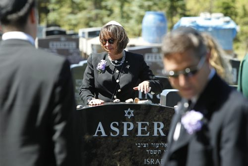 """Asper family members at the funeral for Ruth Miriam Asper. She was commonly known as """"Babs"""" to her family, friends and the community, and died early Saturday at the age of 78 at St. Boniface General Hospital. August 2, 2011 (BORIS MINKEVICH / WINNIPEG FREE PRESS)"""