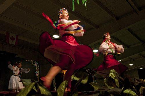Dancers of the Zoloto Ukrainian Dance Ensemble & Company perform at the Spirit of the Ukraine Pavilion of Folklorama, Wdnesday night. August 3, 2011 (HADAS PARUSH / WINNIPEG FREE PRESS)