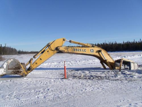"""Please find attached the January 11, 2012 MKO Press Release, """"MANITOBA REMOTE FIRST NATIONS DECLARE STATE OF EMERGENCY ON WINTER ROADS: CITE CLIMATE CHANGE AND GOVERNMENT INACTION"""".  Please also find attached several JPEG images of road-building equipment that has gone through the ice.  These pictures are:   1.    A John Deere Model 892 E LC excavator operated by the Manto Sipi Cree Nation (God's River Manitoba) that has gone through the ice; and   2.    A Caterpillar Model D4 bulldozer operated by the Garden Hill First Nation that has gone through the ice at a location known as First Creek. Please also send all of the attached JPEG images to all media as an attachment to the distribution of the press release.  Regards,  Michael Anderson Research Director Manitoba Keewatinowi Okimakanak, Inc.  Natural Resources Secretariat  for winnipeg free press"""