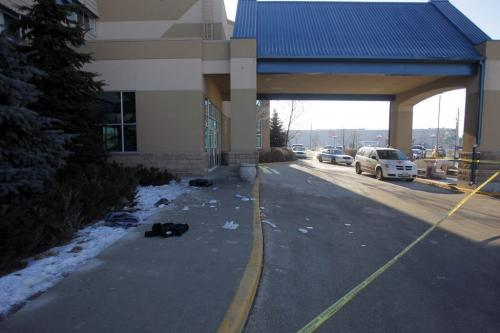 Murder scene at the Canad Inns polo park. February 14, 2012  BORIS MINKEVICH / WINNIPEG FREE PRESS. Winnipeg's 4th homicide victim's full name is Wahbishhkanacot (Wahb) Eli Mandamin Jr.