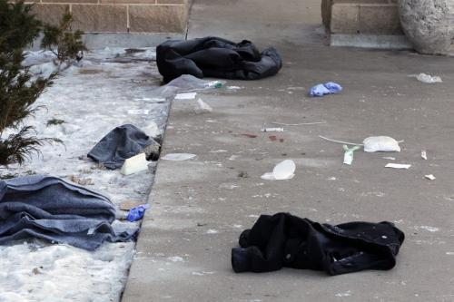 Murder scene at the Canad Inns polo park. February 14, 2012  BORIS MINKEVICH / WINNIPEG FREE PRESS. Winnipeg's 4th homicide victim's full name is Wahbishhkanacot (Wahb) Eli Mandamin Jr.
