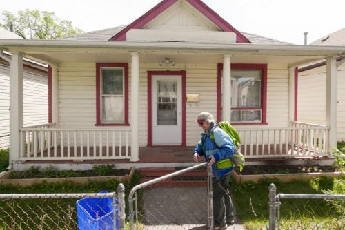 In 2006 Elaine Bishop bought a house in North Point Douglas, just a short walk from the Women's Centre she runs. Story by Randy, FYI 120516 - Wednesday, May 16, 2012 -  Melissa Tait / Winnipeg Free Press