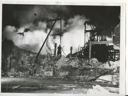 Winnipeg Free Press Archives  Time Building Fire (15) June 10, 1954 Cleanup at fire scene fparchive