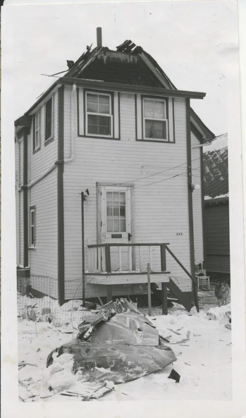 Winnipeg Free Press Archives St.James-air-crash Feb. 18 1957 No one was killed or seriously injured in the aircrash although it happened densely housed area in St. James